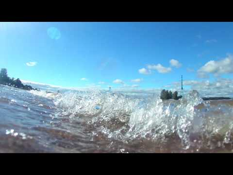 Action Camera 4K, Waltter Move 500 waterproof test  -Hietaniemen ranta, Helsinki, Finland