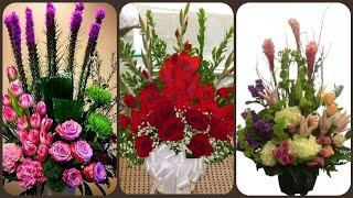 Beautiful letter stylish fresh flower arrangement collection