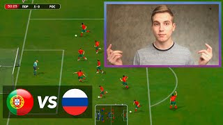 FIFA 2005 Portugal vs Russia Gameplay PC HD 1080p60FPS FIFA 05 Португалия 7 1 Россия