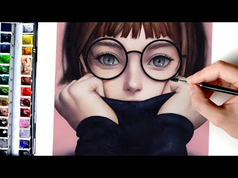 【Digital Art in Watercolor】Glasses