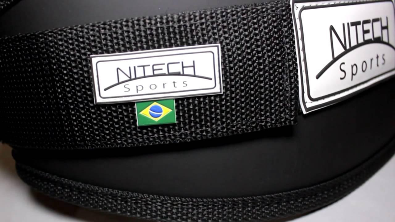 8ba1f7eb7 Cinturão Especial Reforçado com Velcro Duplo - Nitech Sports - YouTube