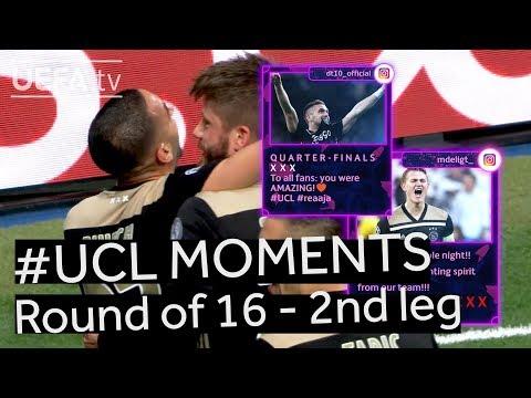 RONALDO, AJAX, MAN. UNITED: #UCL R16 BEST MOMENTS (2nd leg)