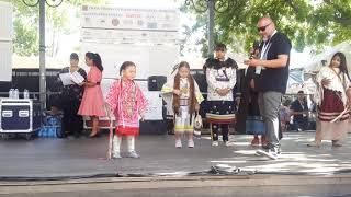 SF INDIAN MARKET 2019  - TRADITIONAL NATIVE AMERICAN CLOTHING CONTEST  -  Young Girls