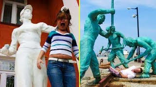 People Who Know How To Have Fun When They See A Statue 「 funny photos 」