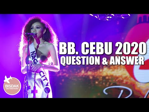 BINIBINING CEBU 2020 QUESTION AND ANSWER, FINAL ROUND | BB. CEBU 2020 | CEBU CITY, PHILIPPINES
