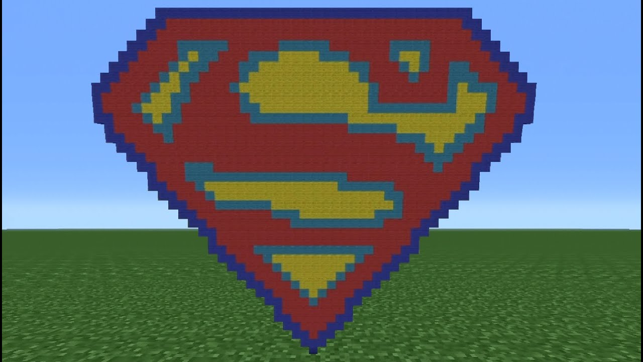 Minecraft Tutorial How To Make The Superman Logo Youtube