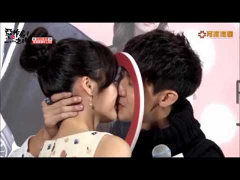 """Miss in kiss The first press conference""""Safety kiss""""&Interview cut Eng Sub 李玉璽吳心緹 Dino Lee Esther Wu"""