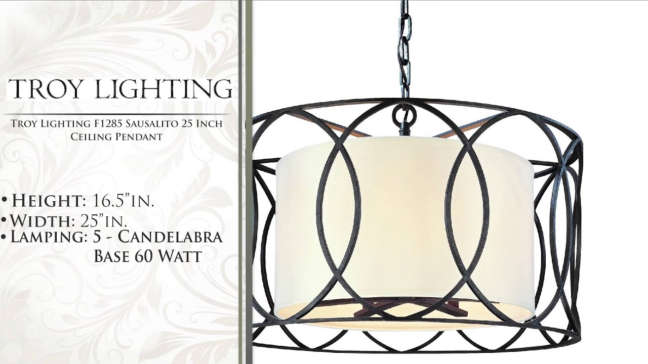 High Quality Troy Lighting F1285 Sausalito 25 Inch Ceiling Pendant   YouTube