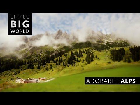 Adorable Austrian Alps (4k - Time Lapse - Tilt Shift - Aerial)