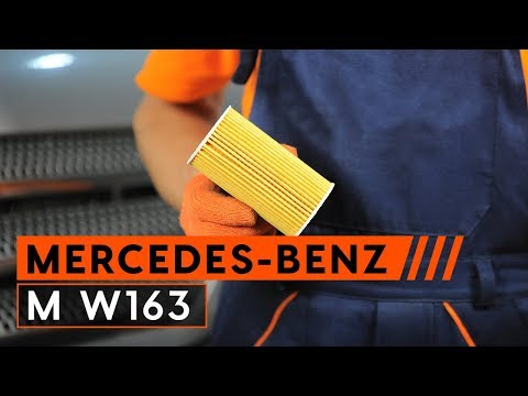 Cómo cambiar el aceite de motor, filtro de óleo en MERCEDES-BENZ M W163 INSTRUCCIÓN | AUTODOC