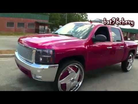 "Candy Pink 2008 Chevrolet Silverado 1500 Truck on 30"" DUB ..."