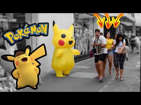 PEGADINHA - POKÉMON PIKACHU - ASSUSTANDO PESSOAS - Pokémon Pikachu Prank