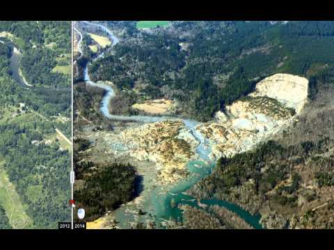 Before and After the Washington Mudslide