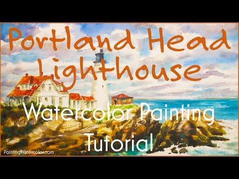 Portland Head Lighthouse Painting Tutorial