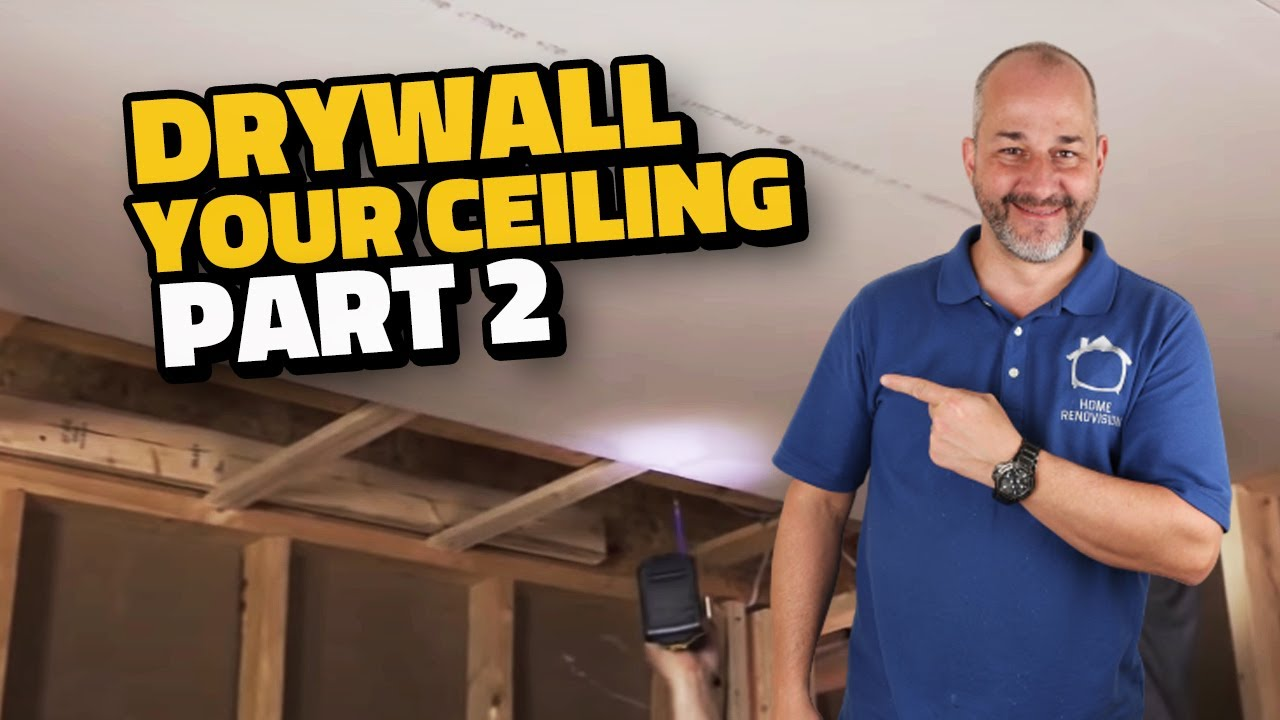 Complete Drywall Installation Guide Part 2 Installing On Your Ceiling