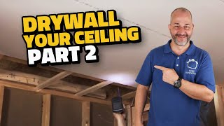 Complete Drywall Installation Guide Part 2 Installing Drywall on Your Ceiling