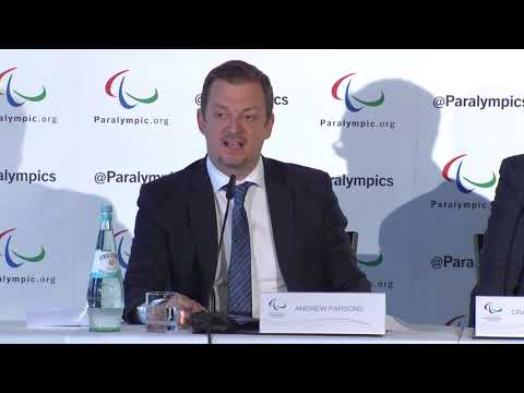 IPC President Andrew Parsons | 2019 IPC Russia Press Conference