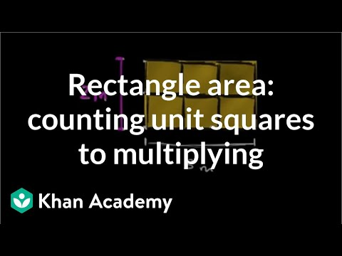 Rectangle area as product of dimensions same as counting unit squares | Pre-Algebra | Khan Academy
