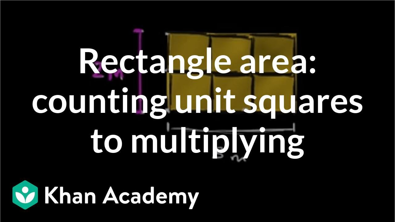 Counting unit squares to find area formula (video) | Khan Academy