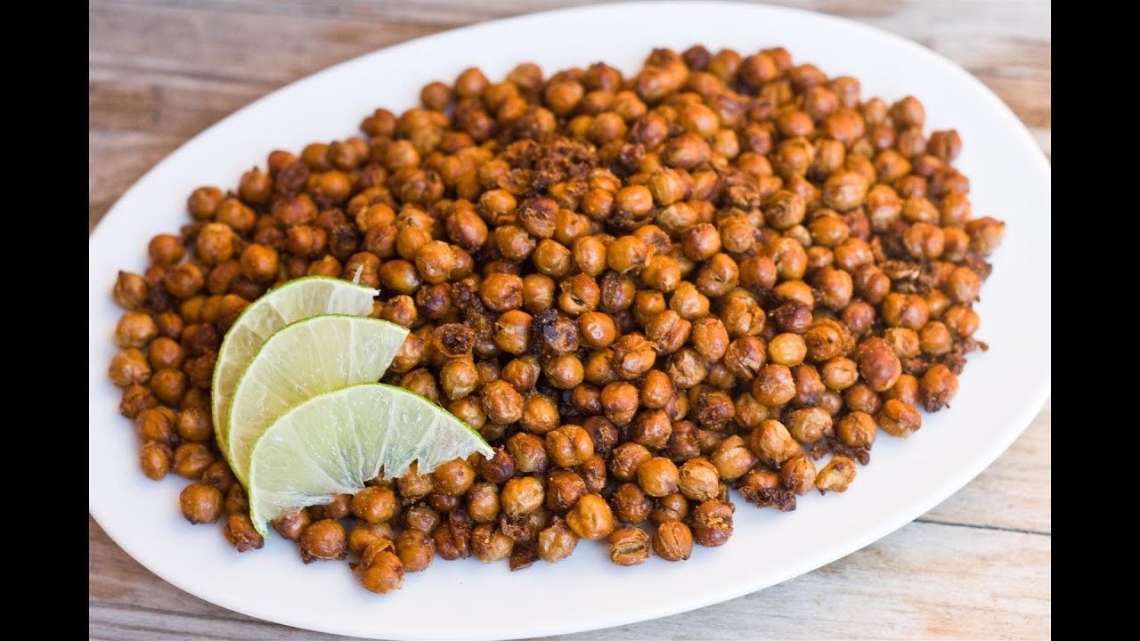 How to make Garlic and Cumin Roasted Chickpeas - YouTube