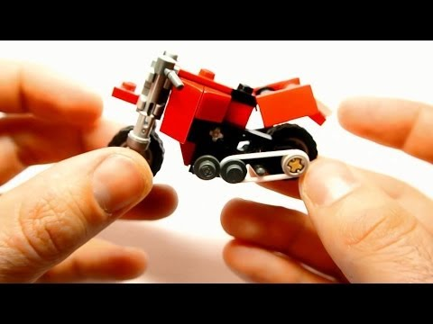 How to Build Dual-sport Motorcycle (Small Lego Toy) - YouTube