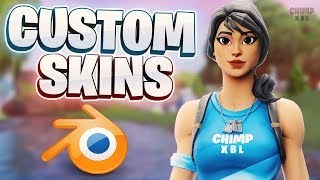 COMMENT À GET CUSTOM SKINS IN BLENDER (FORTNITE)