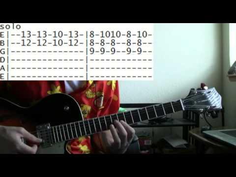 guitar lesson B-52\'s love shack tab - YouTube