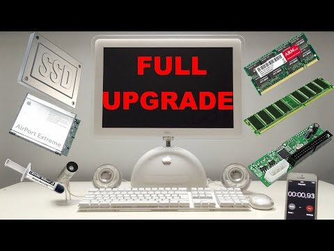 iMac G4 Full Upgrade with Samsung SSD 2017
