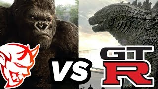 Dodge Demon vs GTR ROUND 2 | King Kong vs Godzilla Drag Race