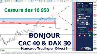 #DAX30 CFD - Séance de Trading en Direct - Bonjour CAC40 & DAX30 le 15/01