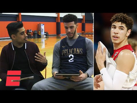 Lonzo Ball watches LaMelo's highlights with Omar Raja | Hoop Streams