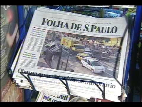 REDE RECORD CONTRA-ATACA O JORNAL FOLHA DE SÃO PAULO