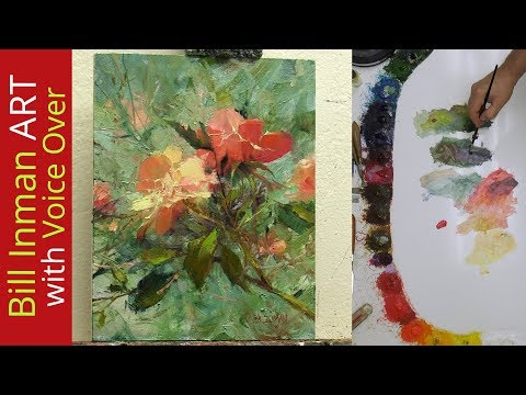 Paint Peach Roses - Trust 10x8 - Fast Motion w/Voice Instruction