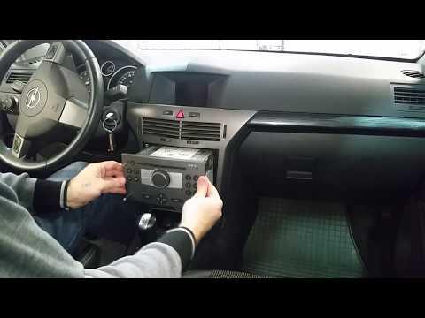 как снять штатную магнитолу опель астра ш , Opel Astra H