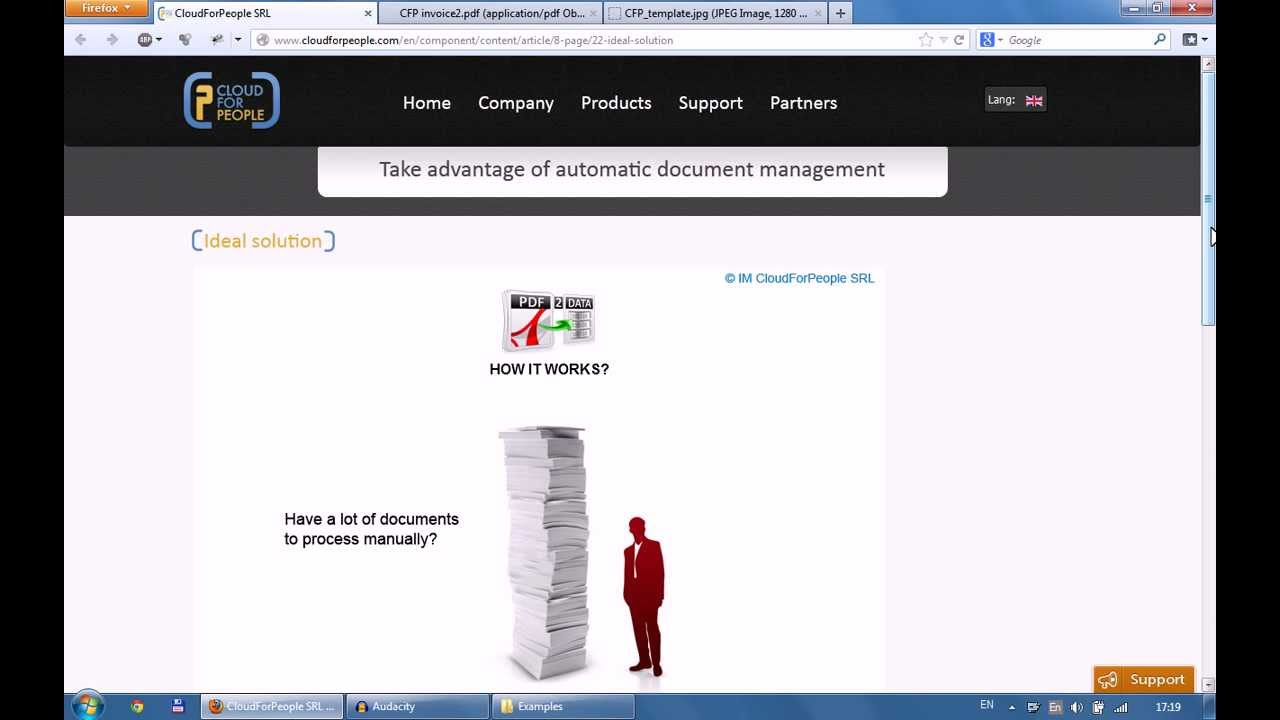 How PDF2Data service works (invoice processing and data extraction software)