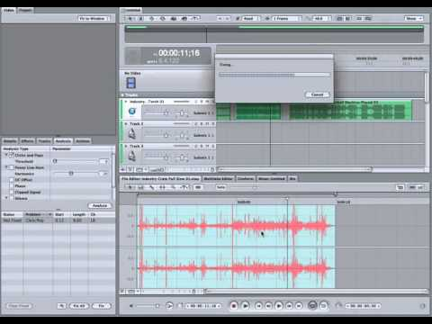 SoundTrack Pro 3 - Click and Pop Analysis