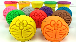 Learn Colors with Doraemon Play Doh Smiley Face