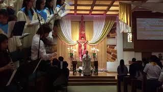 Saturday Mass 05 12 2018 Rev. Bao Thai & Reading   Saint Cecilia Catholic Tustin California USA