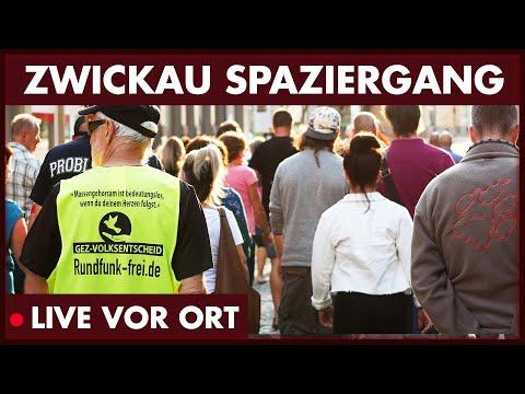 Spaziergang in Zwickau gegen Corona-Maßnahmen (15.06.2020)
