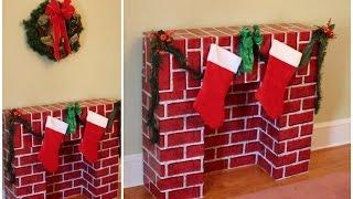 DIY Christmas Fireplace for the Holidays