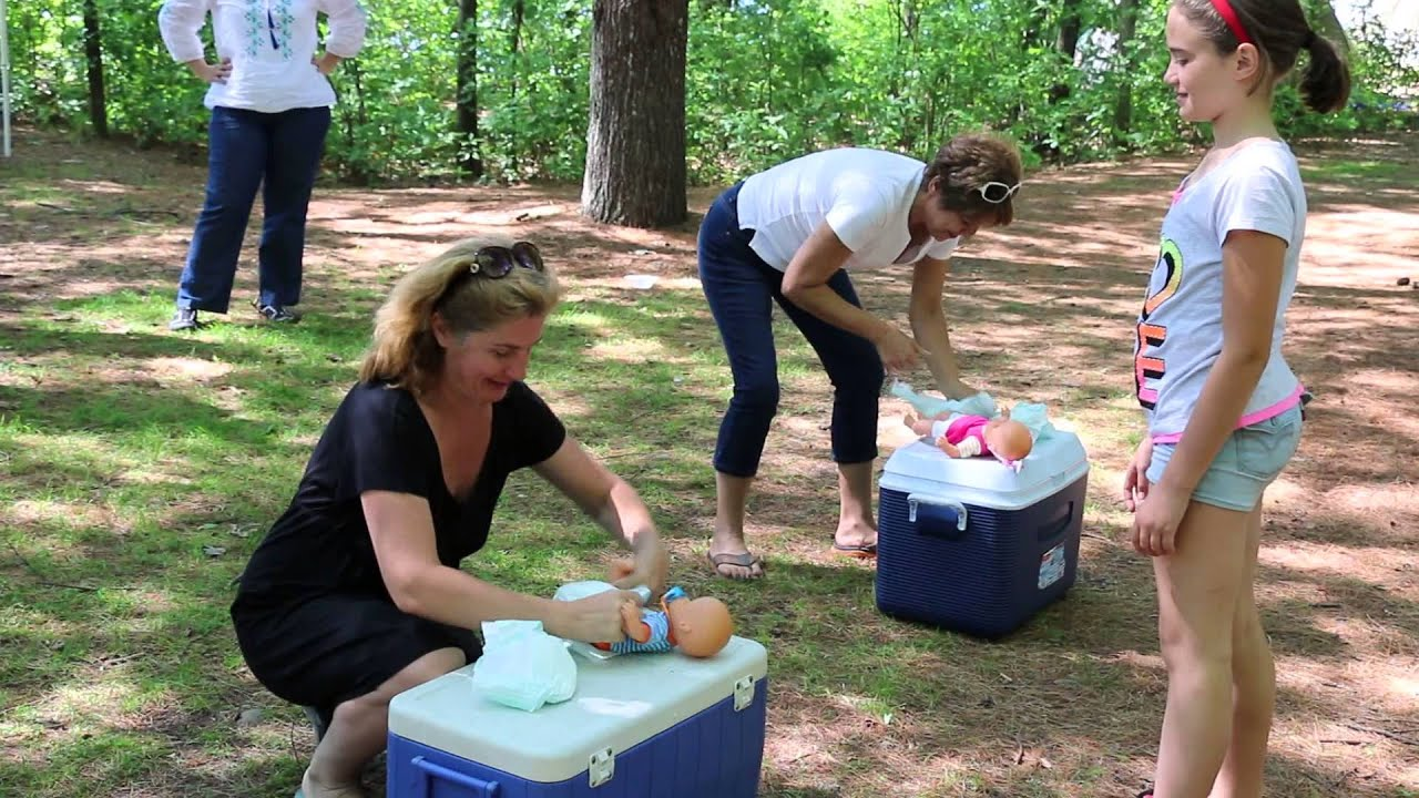 "Baby Shower ""Diaper Relay"" funny relay game"