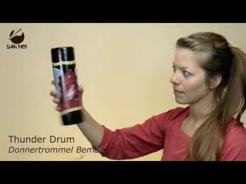 Thunder Drum - Painted cardboard Spring Drum with plastic membrane