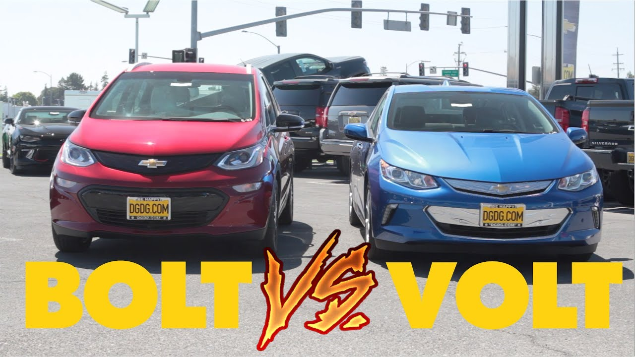2017 Chevy Bolt Vs Chevy Volt Dgdg Com Youtube