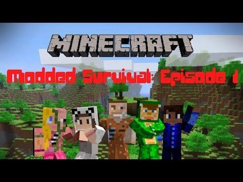Lets play Minecraft Modded Survival | Episode 1: Kyran's Secret Lover?