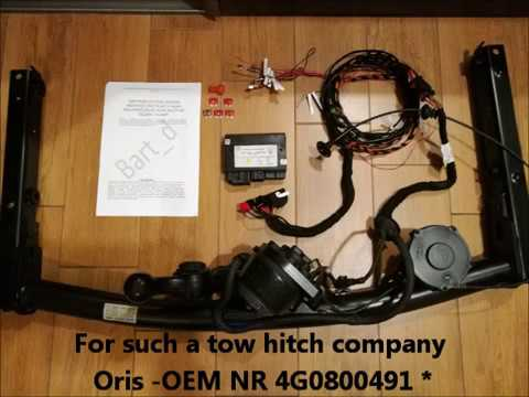 Audi A6 C7 and A7 - towing hook electric instalation AHK, towbar ...