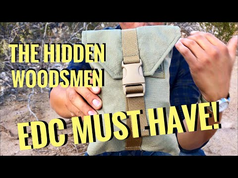 The Hidden Woodsmen Belt Pouch Review / Portable Survival Kit!