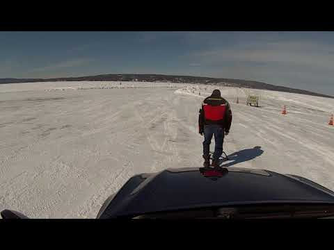 02 26 18 Ice Highway Bayfield to Madeline Island  By Car