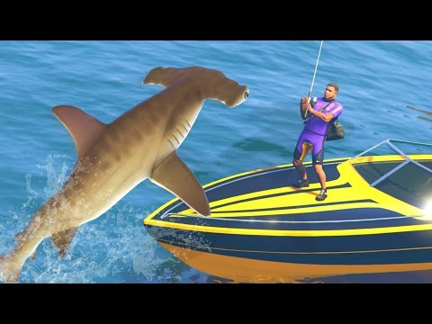 GTA 5 Mods - DEADLIEST CATCH FISHING MOD | CATCHING SHARKS AND RARE FISH! (GTA 5 PC Mods)