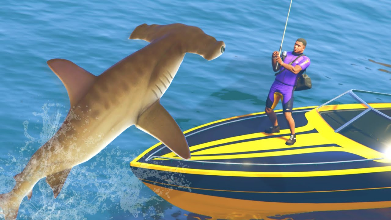 Gta 5 mods deadliest catch fishing mod catching sharks for How to shark fish
