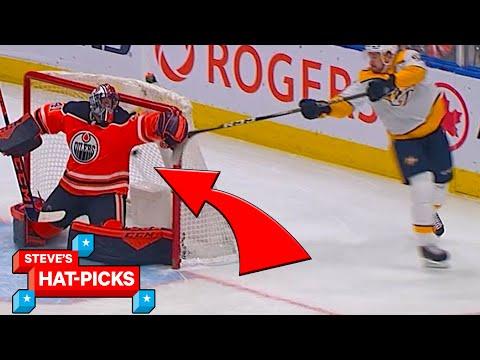 NHL Plays Of The Week: GOALIE GOAL!   Steve's Hat Picks
